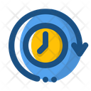 Clock Wise Around The Clock Icon
