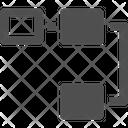 Time Line Workflow Flowchart Icon