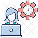 Process Of Planning Time Management Capability Icon