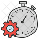 Time Management Manage Time Efficiency Icon