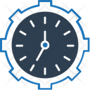 Time Management Time Settings Cogwheel Icon