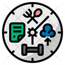 Time Management Hobby Working Icon