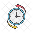 Time Clock Anticlockwise Icon
