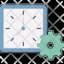 Clock Settings Clock Schedule Icon