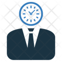 Time Management Clock Human Mind Icon