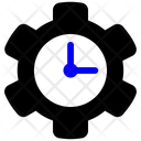 Gears Cog Time Settings Icon