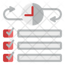 Time Management Checklist Planning Icon