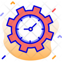 Clock Cog Seo Performance Icon