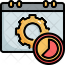 Time Management Calendar Icon