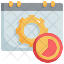 Time Management Businessman Icon