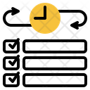 Time Management Checklist Planning Icon