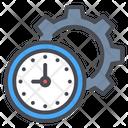 Clock Gear Setting Icon