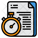 Time Management Stopwatch Management Icon