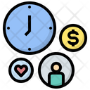 Time Management Management Administration Icon