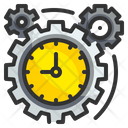 Time Management Gear Cogwheel Icon