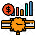 Time Management Time Value Financial Icon