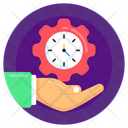 Productive Service Time Management Time Service Icon