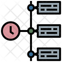 Time Management Timeline Project Time Icon