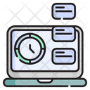 Time Management Clock Schedule Icon