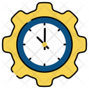 Time Management Time Setting Time Development Icon