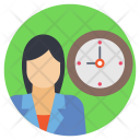 Businesswoman Time Timely Icon