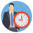 Businessman Appointment Time Icon