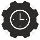 Time Settings Management Icon