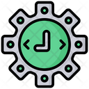 Time Management Controll Smart Farm Gear Icon