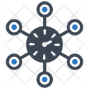 Network Time Zone Icon