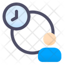 Time Profile People Time Management Client Time Icon