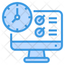 Computer Date And Time Work From Home Icon