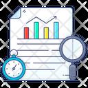 Time Analysis Time Statistics Time Evaluation Icon