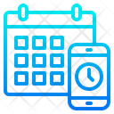Time Table Mobile Date Icon