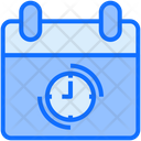 Time Table Web Clock Icon