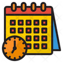 Time Table Event Time Meeting Time Icon