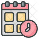 Time Table Time Date Icon