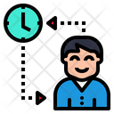 Time To Change People Change Time Icon