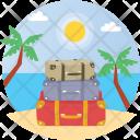 Travel Luggage Seashore Icon