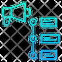 Timeline Marketing Timeline Megaphone Icon
