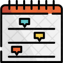 Timeline Plan Business Icon