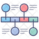Line Timeline Graph Icon