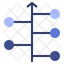 Timeline Chart Data Icon