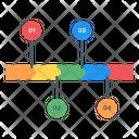 Data Analytics Timeline Infographic Timeline Statistics Icon