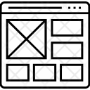 Timeline Layout Web Icon