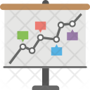 Timeline Target Graph Icon