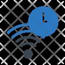 Clock Time Wifi Icon