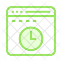 Clock Time Browser Icon