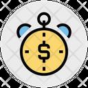 Timepiece Dollar Timer Icon