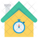 Timer Stopwatch House Icon