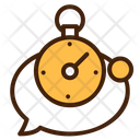 Timer Chat Conversation Icon